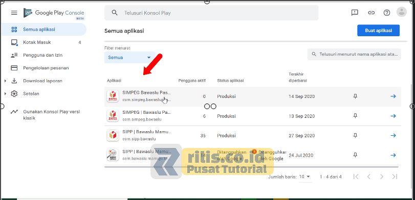 Masuk di Google Play Console - Cara Hapus Aplikasi di Play Store