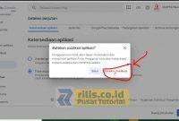 Muncul Pop Up Lalu Pilih Batalkan Publikasi - Cara Hapus Aplikasi di Google Play Console Versi Terbaru